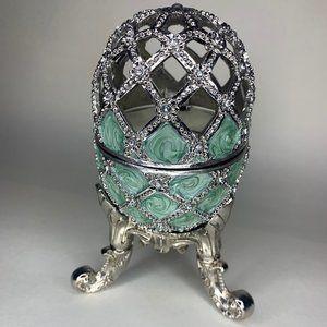 Silver Faberge Egg - Plays Nutcracker